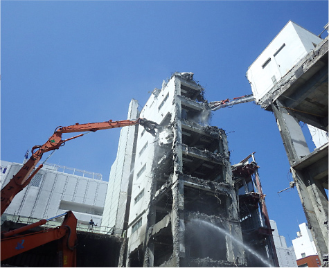 静岡市 SRC造・S造・RC造 ビル解体工事