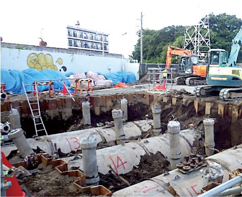 三島市 S造ガソリンスタンド解体撤去工事