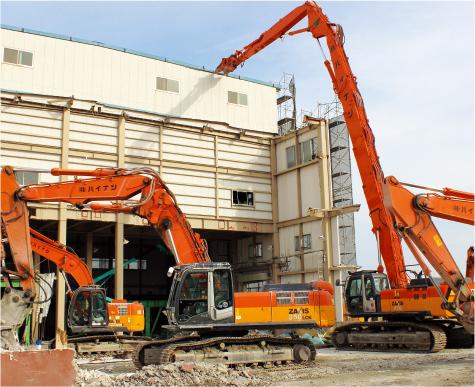 牧之原市 RC造・S造工場解体工事