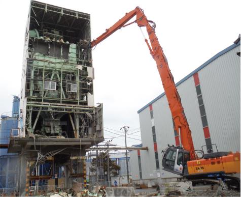 菊川市 S造工場解体工事