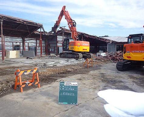 牧之原市 S造地区センター解体工事
